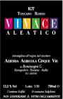 Etichetta per il vino rosso denominato Vivace